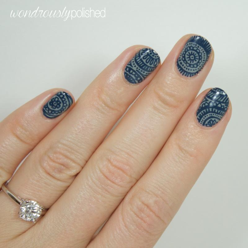 Wondrously Polished 31 Day Nail Art Challenge: Wondrously Polished: 31 Day Challenge, Day 12