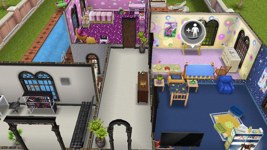 Residencia premium mansion de dos plantas los sims freeplay for Casa de diseno sims freeplay