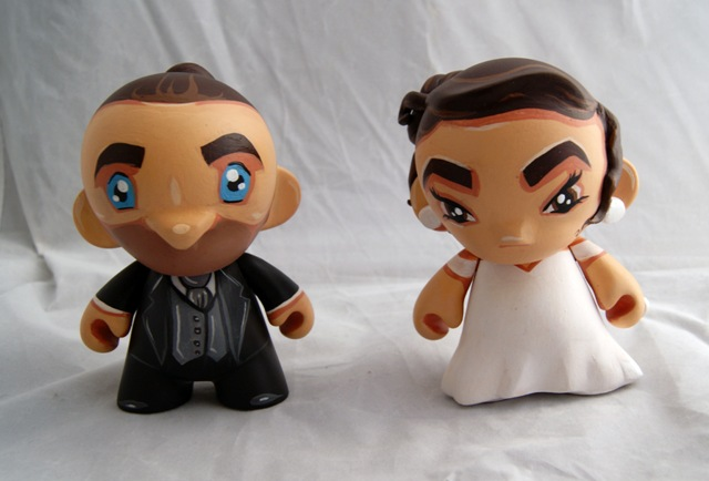 Wedding Cake Toppers Mini Munnys Posted by Rocketboy Customs at 955 PM 0