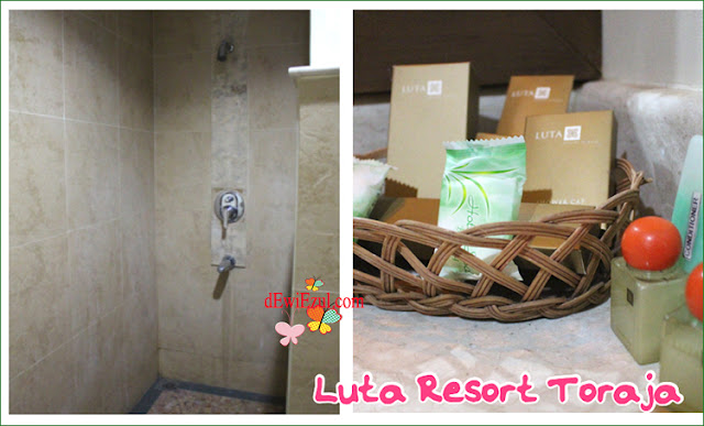 suasana kamar mandi di  Luta resort Rantepao Toraja