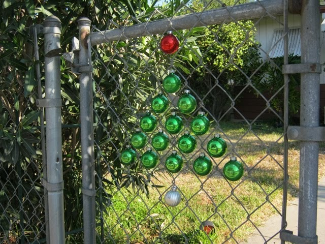 Sweater Surgery Christmas Tree Ornament Chain Link Fence