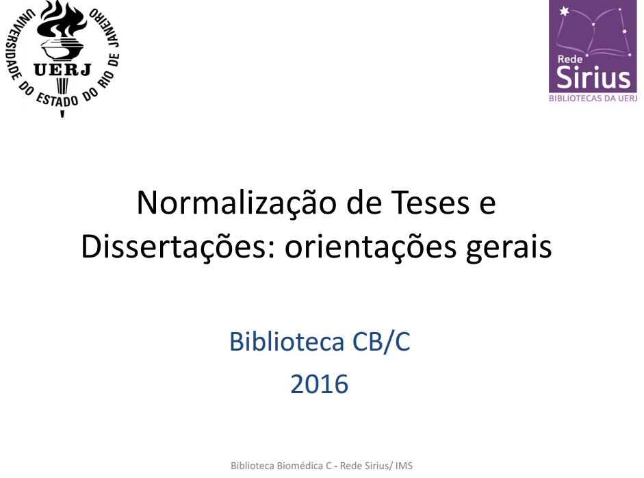 Orientações gerais sobre normalização de teses e dissertações