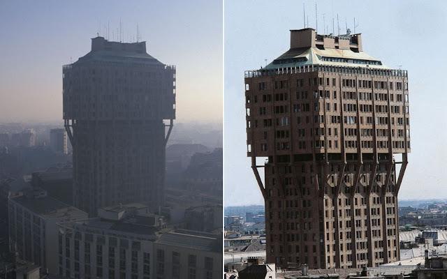 «Torre Velasca» en Milán, Italia