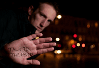 Motiverende gespreksvoering, talk to the hand.