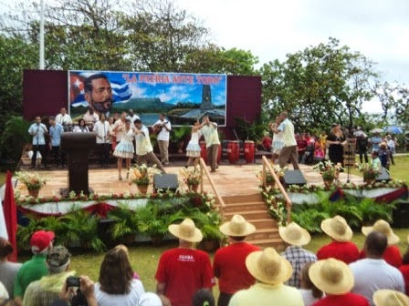 Acto por el 120 aniversario del desembarco por Duaba, Baracoa, Guantánamo
