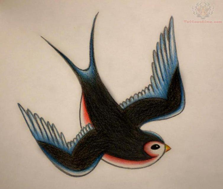 New school bird tattoo designs
