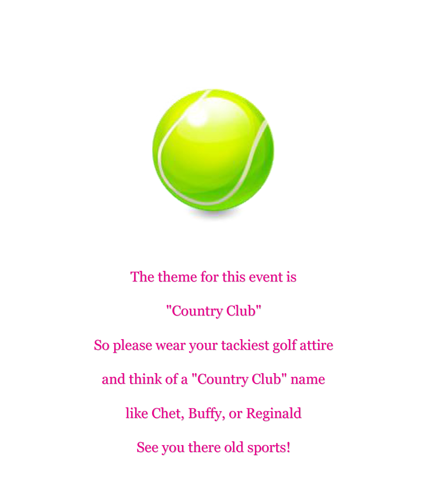 I Do On A Dime: Country Club Themed Party