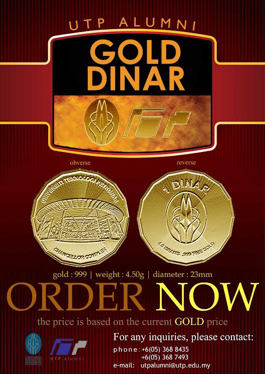 Poster UTP Alumni Gold Dinar