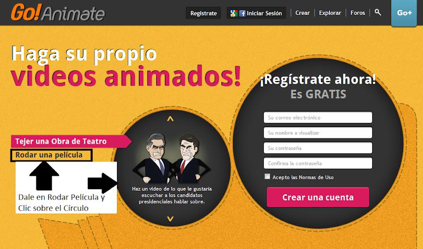 Go! Animate - Excelente herramienta 2.0 en el Aula