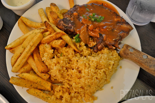 Gumbo Grilled Lamb with French Fries and Cajun Rice x Rizza Salas