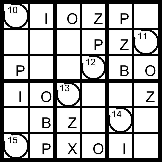 Magic Word Square Extra Letter Run Word Sudoku Puzzle