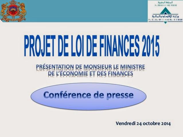 Télecharger le projet de la loi de finances 2015