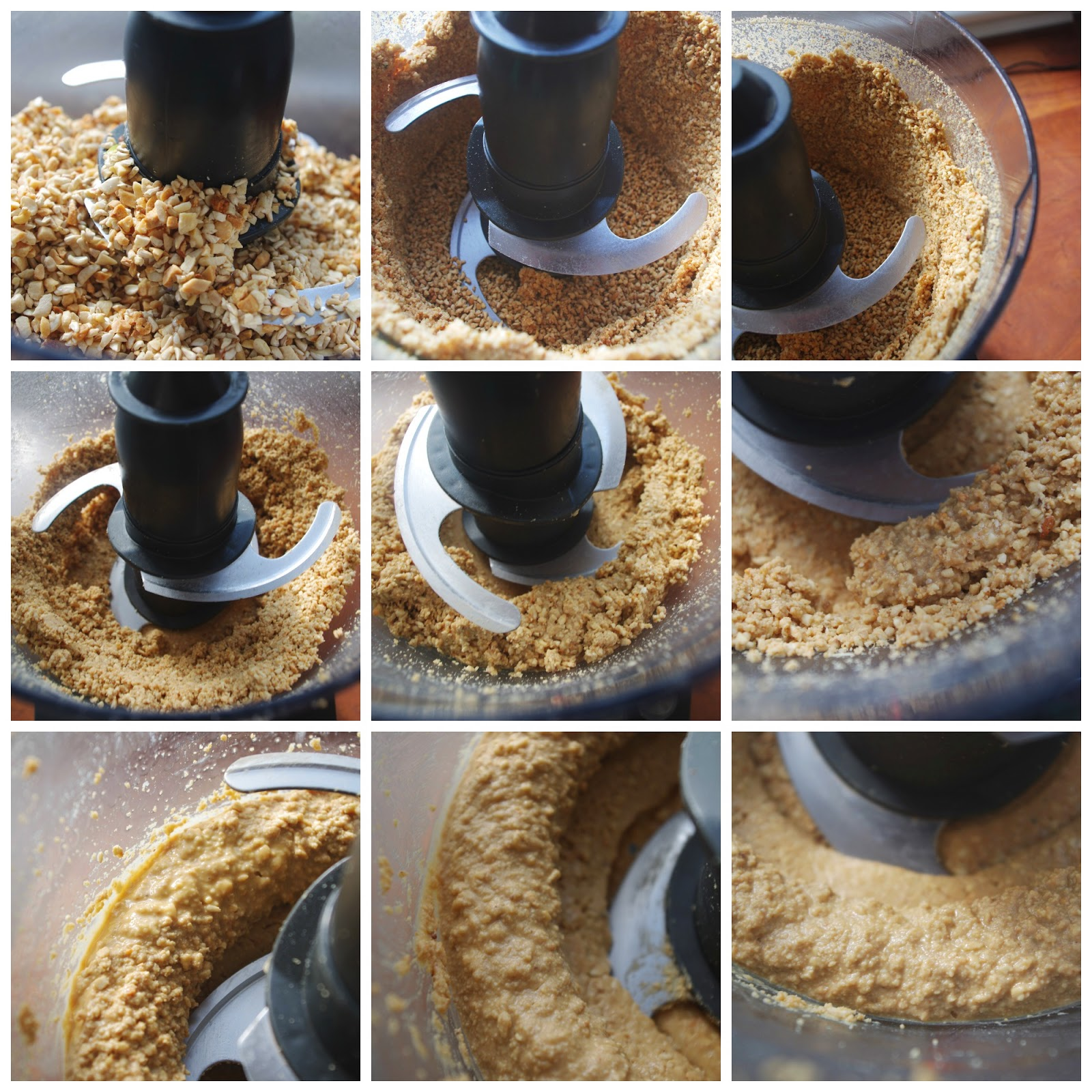 Process of nut butter stages