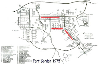 by fortune this map of fort gordon shows how it looked at the end of the vietnam war all buildings and areas are accounted for but not all can be found