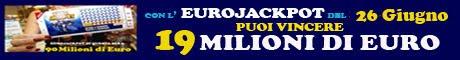 Eurojackpot estrazione del 26 Giugno 2015