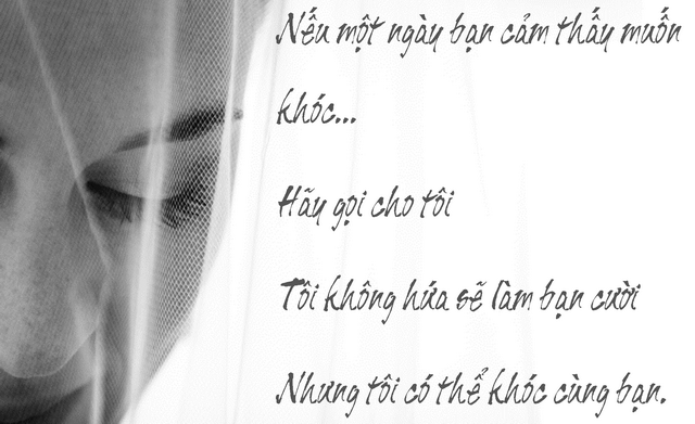 Nếu một ngày bạn cảm thấy muốn khóc