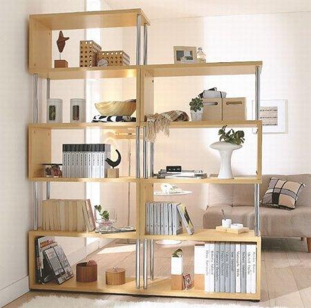 Decora o prateleiras na sala cores da casa - Estanterias para separar ambientes ...