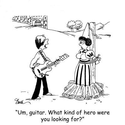 prince with guitar shows up to help princess in trouble