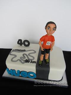 marathon birthday cake