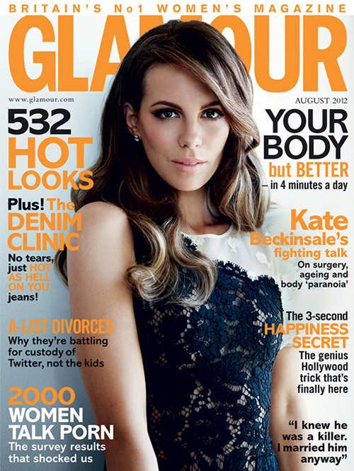 Kate Beckinsale Covers Glamour UK August 2012 » Gossip/Kate Beckinsale