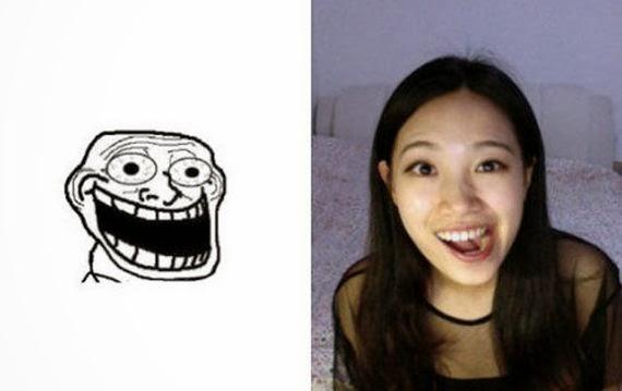 Girl Making Funny Face Meme : Girl making meme faces