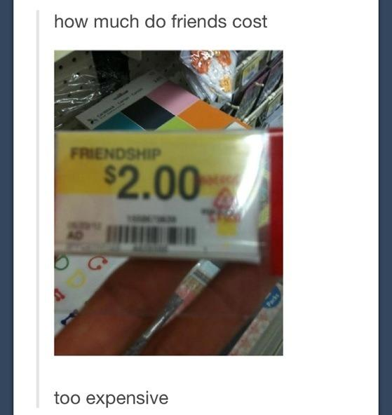 How much do friends cost