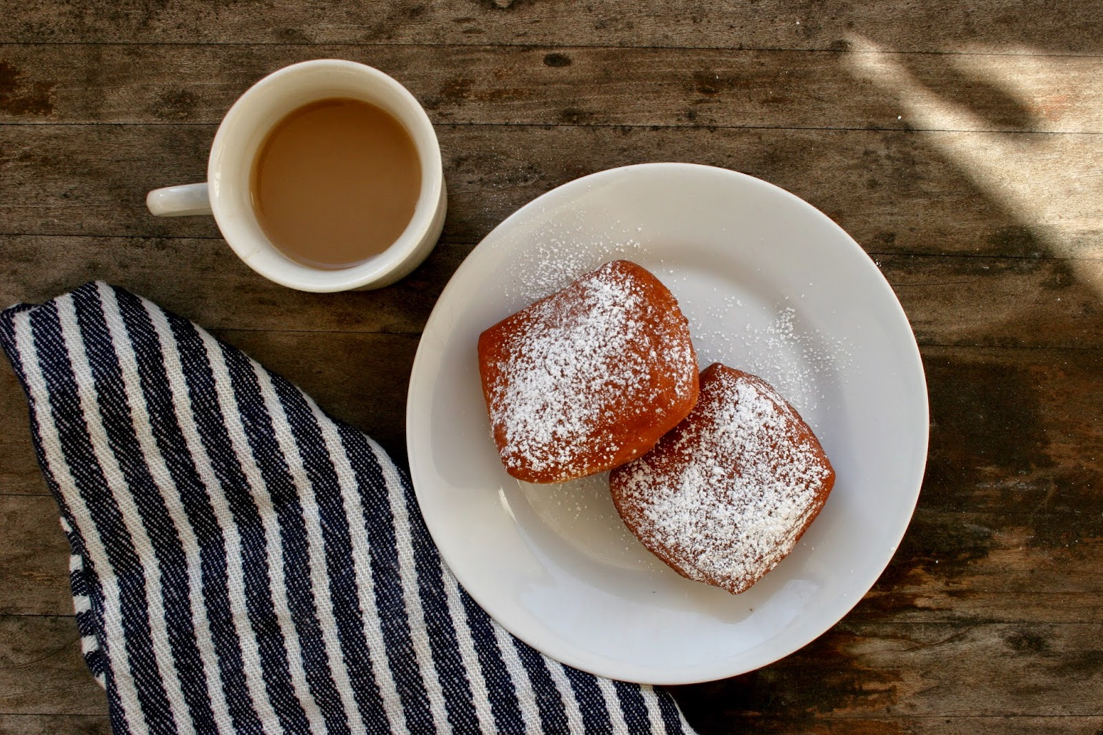 Homemade Beignets with Coffee