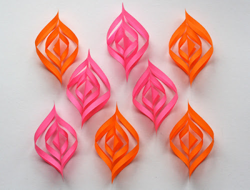 Diy paper christmas ornaments how about orange