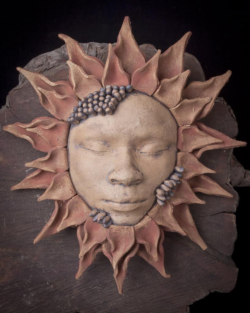 black cat pottery: sunflower masks 3 - seed