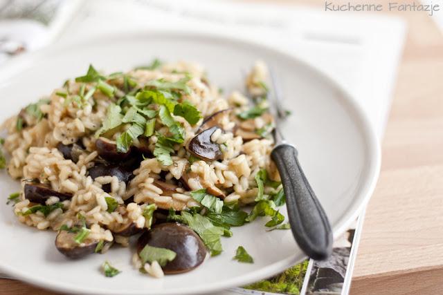 risotto, przepis, z grzybami, podgrzybki, ryż, arborio, klasyczne, proste, dobre, grzyby leśne, kuchnia włoska, kuchenne fantazje