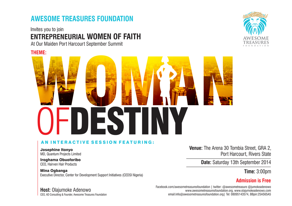 ENTREPRENEURIAL  WOMEN OF FAITH