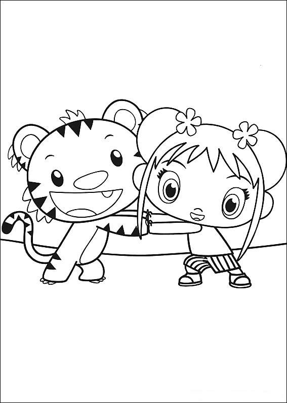 Ni hao kai-lan coloring pages ภาพระบายสี ni hao