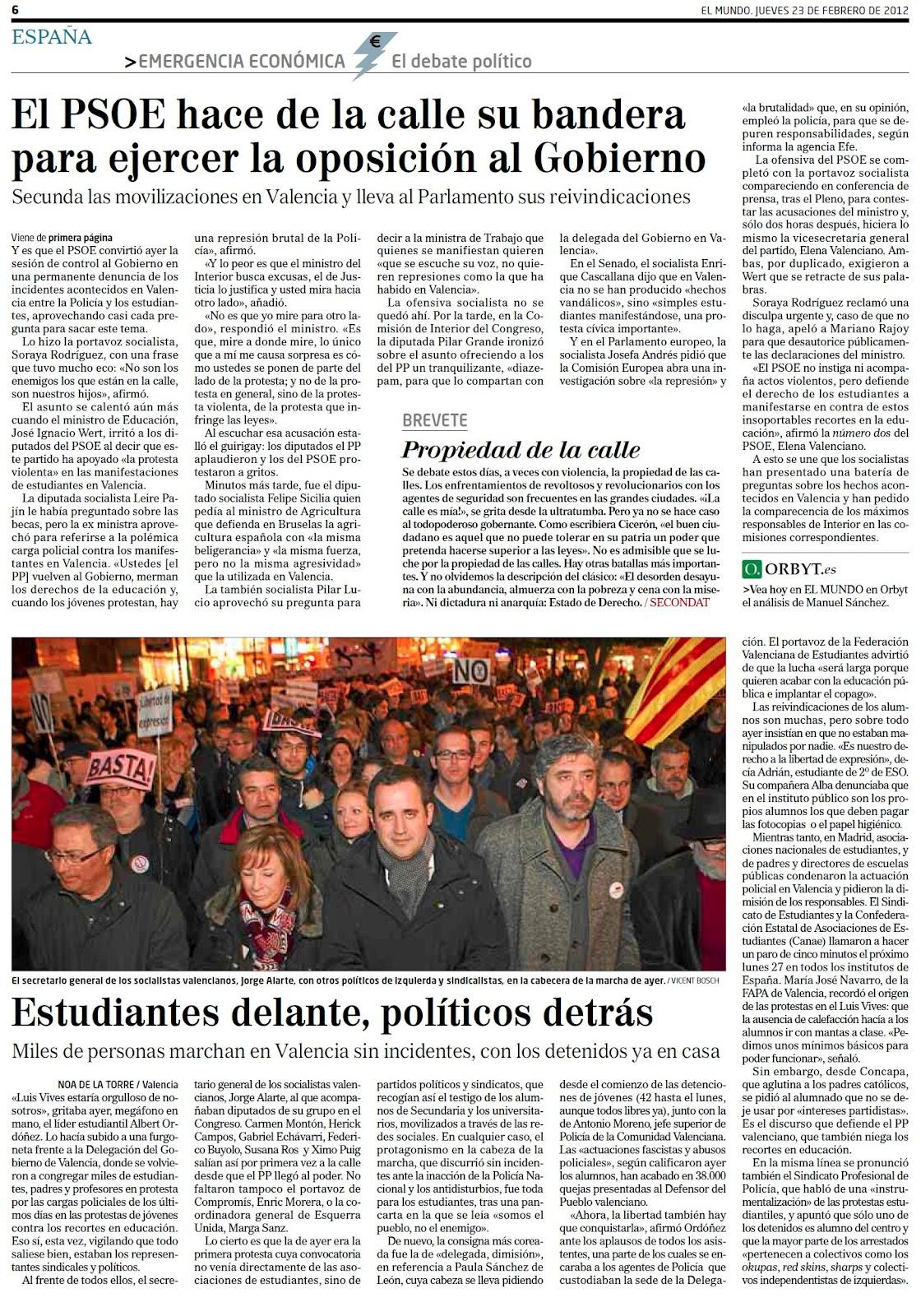 Si tiene rabo de cochino, manos de cochino y orejas de cochino... es que es el PSOE alentando algaradas en la calle