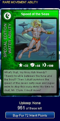 Speed of the Seas card at Superhero City
