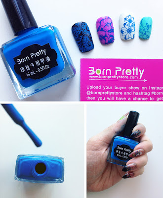 Born Pretty Stamping Polish 15 ml blue #17 Review