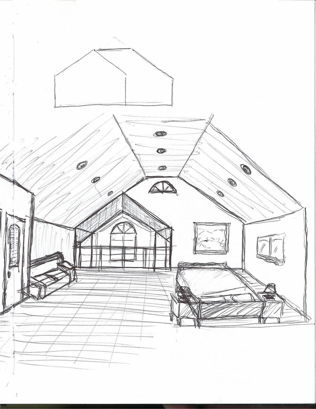 Aret 2220 Jones Design Idea 1 Master Bedroom Sketch