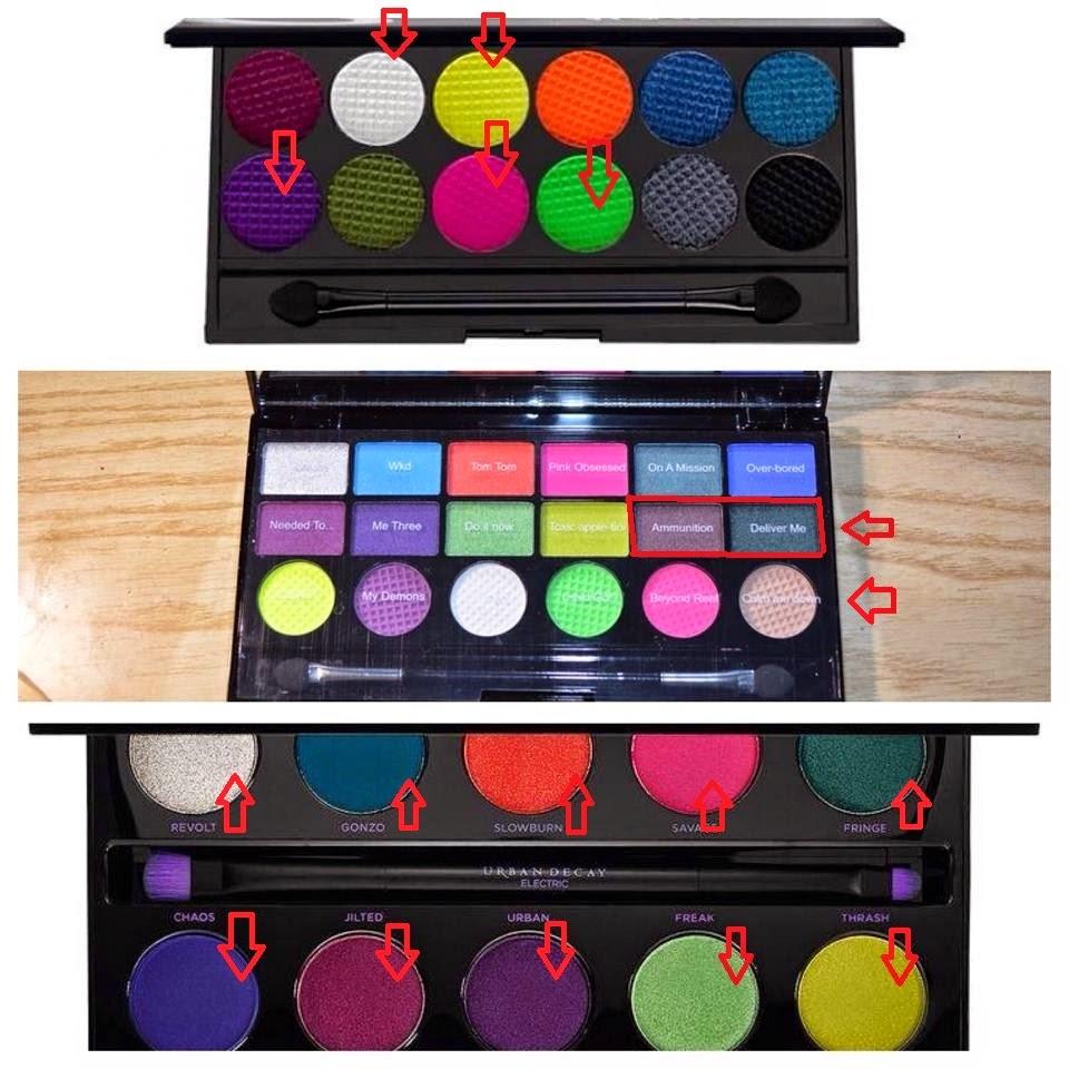 beautyfashionandmore02 palette colour chaos makeup revolution dupe di 2 palette famose. Black Bedroom Furniture Sets. Home Design Ideas
