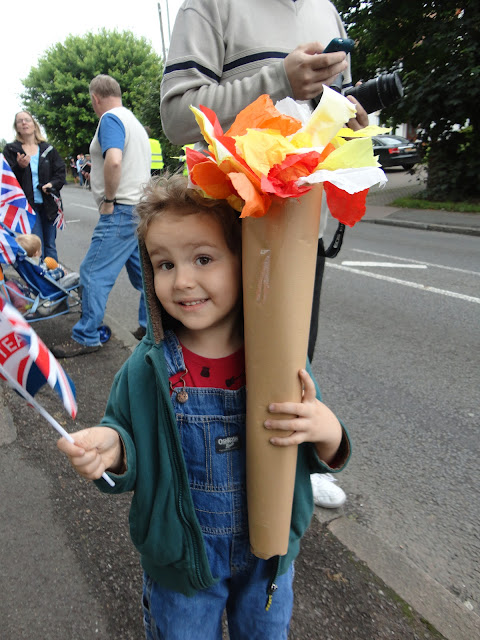 Big Boy with his Home Made Olympic Torch