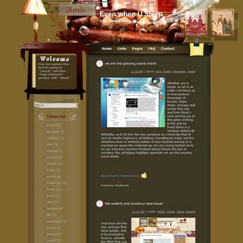 Even When U Sleep Blogger Template. free download template blogspot