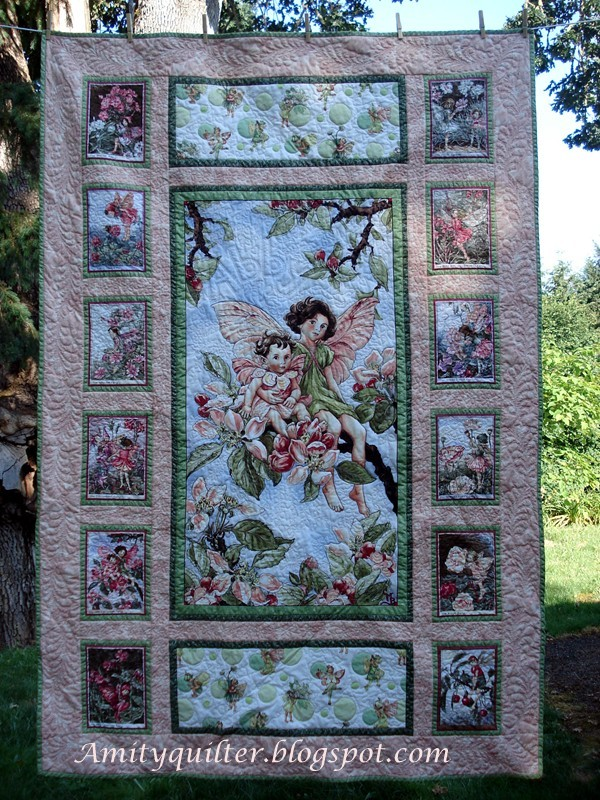 Quilt Ideas For Panels : Amity Quilter: Another girl s fairy quilt