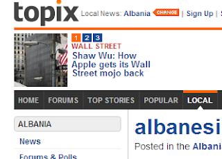 topix.com denunciato - 4 avvocati albanesi chiedono 1 milione di Euro