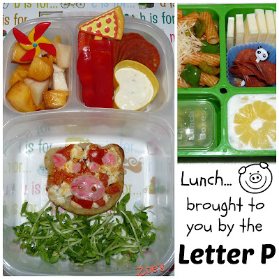 Letter P Bento Lunch