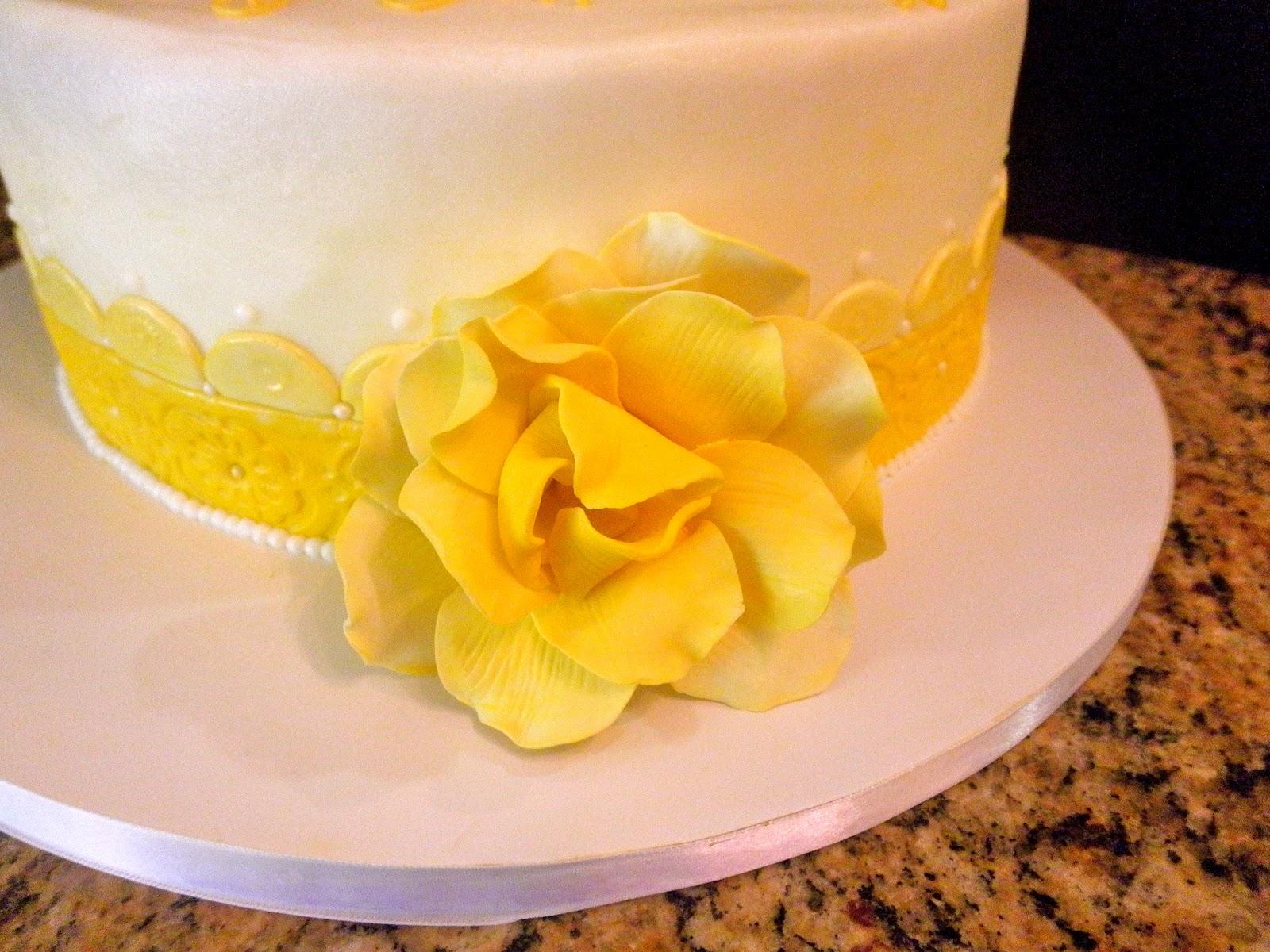 Sweet T's Cake Design: Yellow Rose Birthday Cake