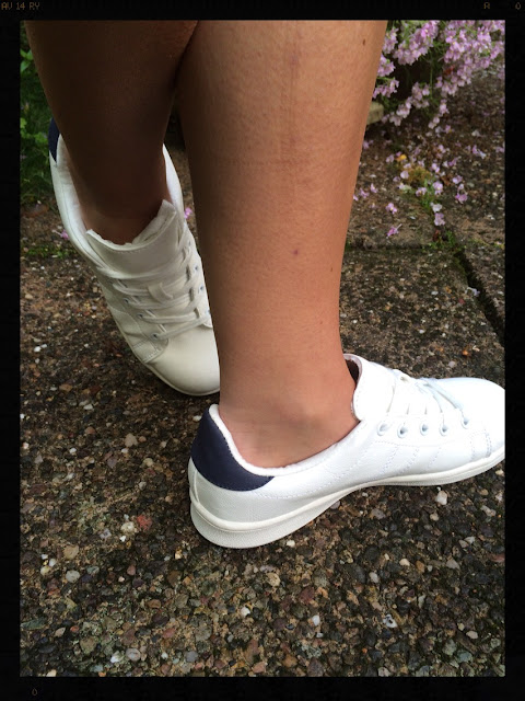 My Midlife Fashion Marks and Spencer lace up Trainers with insolia Flex