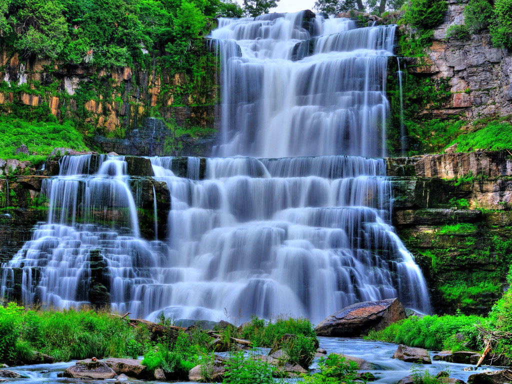 Wallpapers waterfalls scenery wallpapers - Nature wallpaper of waterfall ...