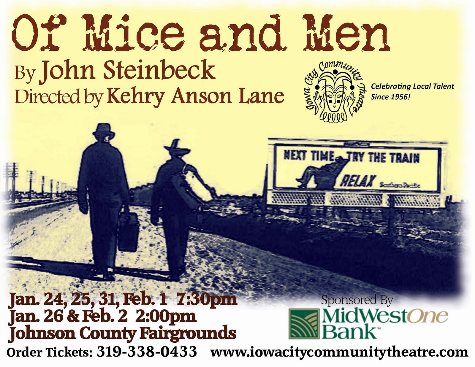 Iowa Theatre: Of Mice and Men Opens Tonight