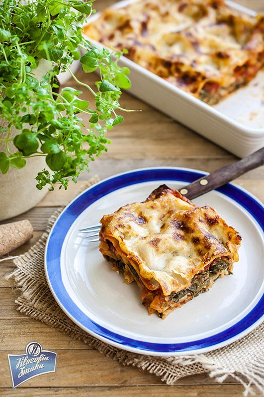 Lasagne ze szpinakiem i beszamelem