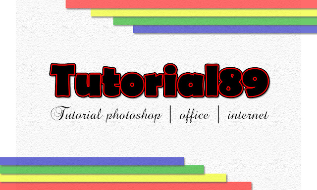 Cara membuat tulisan dobel dengan photoshop