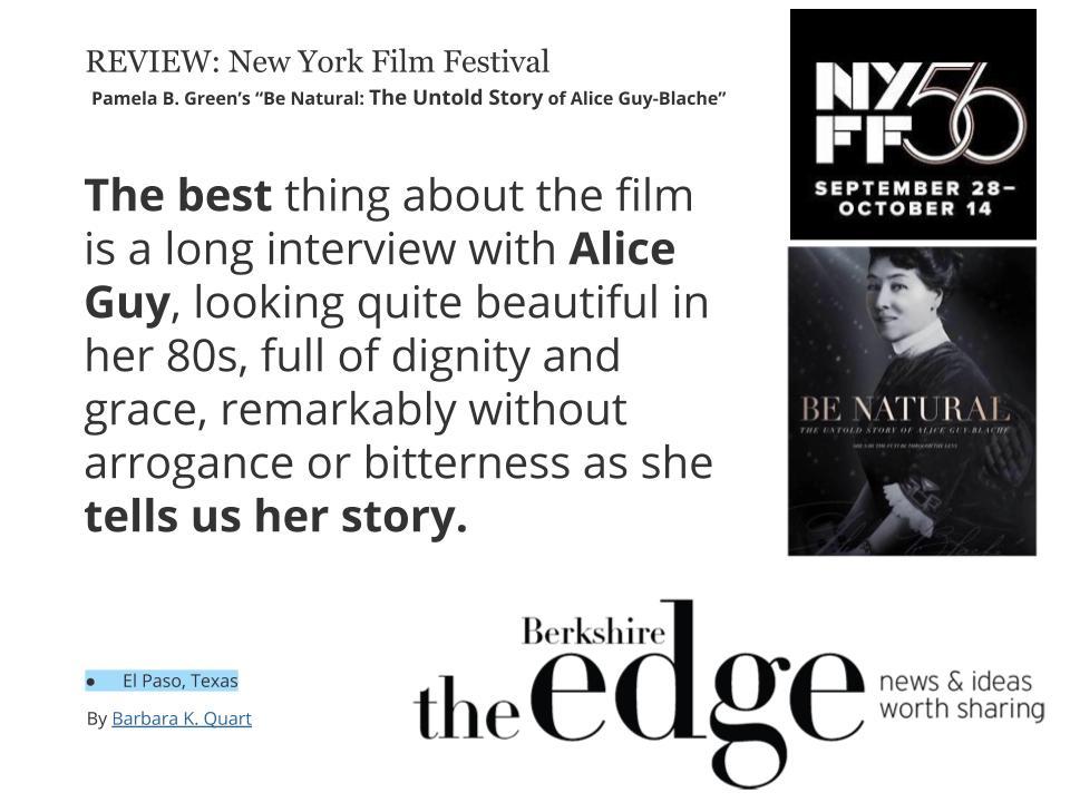 Alice Guy Blache film festival 2019