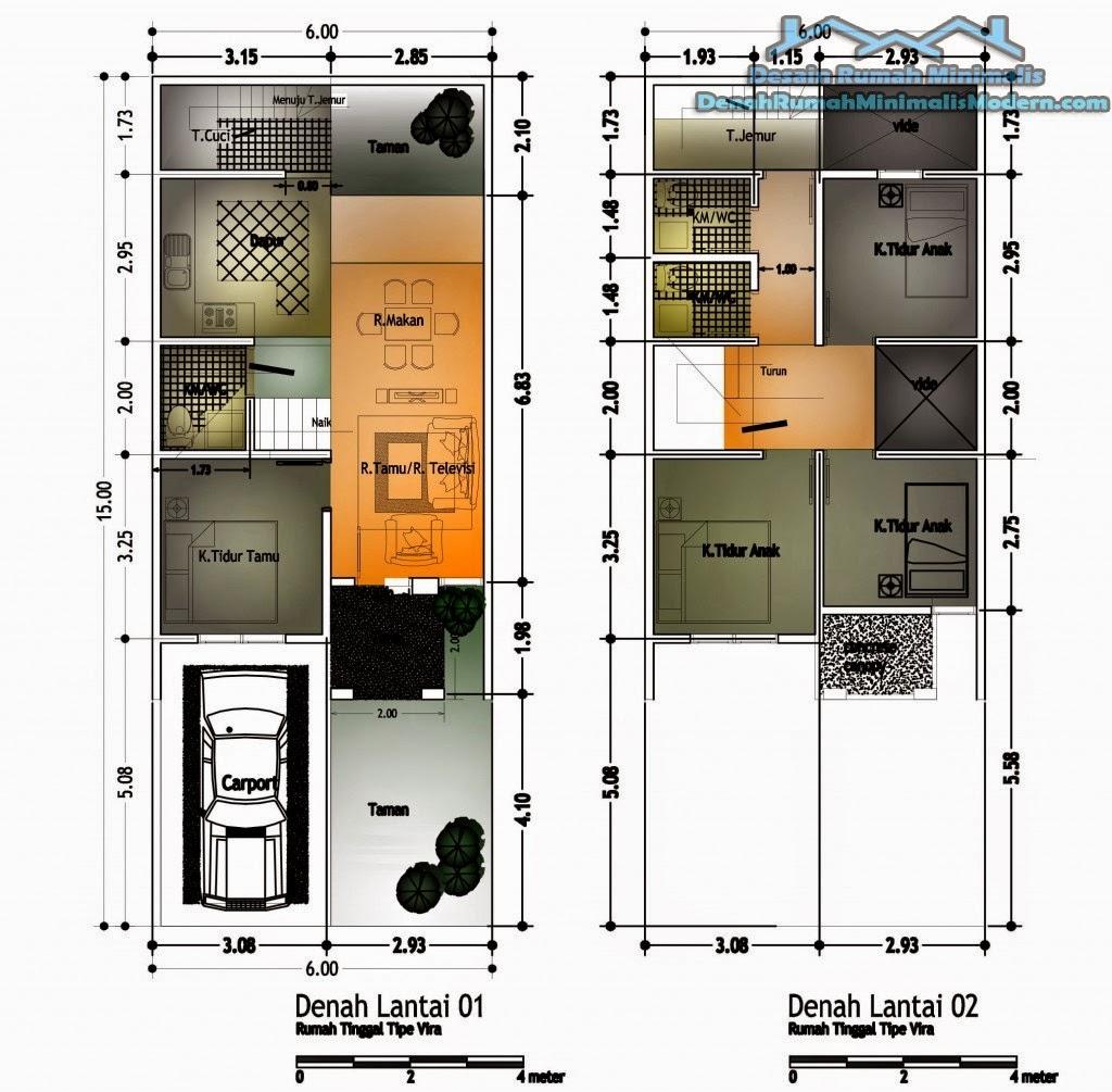 Desain Rumah Minimalis 2 Lantai 2 Kamar Tidur